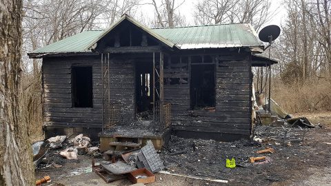 There was a house fire today at 114 Duncan Street. (Sgt Blackmon, Clarksville Police)