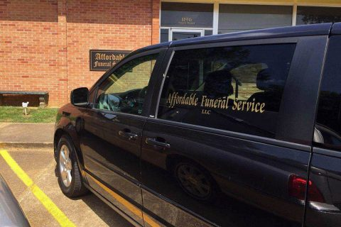 Affordable Funeral Service's black 2013 Dodge Caravan was stolen today from in front of Tennova Healthcare according to Clarksville Police.