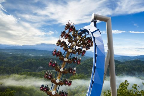 Wild Eagle: America's First Wing Coaster at Dollywood in Pigeon Forge, Tennessee. (Steven Bridges)