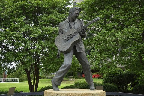 Elvis Presley statue near Historic Beale Street in Memphis, Tennessee. (Tennessee Department of Tourist Development)