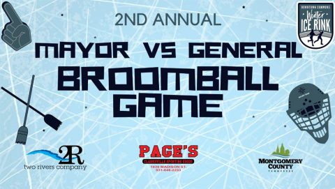 Mayor vs. General Second Annual Broomball Game