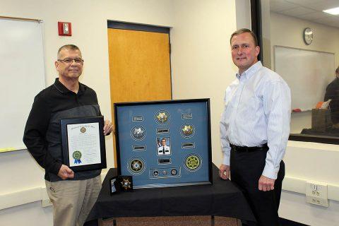 (L to R) Lieutenant James McManama and Montgomery County Sheriff John Fuson.