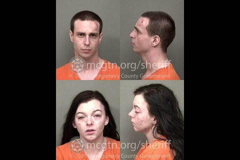 (Top) Jacob Randy Fehsera and (Bottom) Stephanie Klara Boyer were arrested Thursday by Montgomery County Sheriff's Officers for vehicle theft and evading arrest.