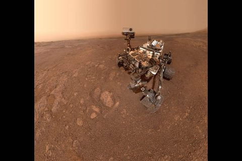"A selfie taken by NASA's Curiosity Mars rover on Sol 2291 (January 15) at the ""Rock Hall"" drill site, located on Vera Rubin Ridge. (NASA/JPL-Caltech)"