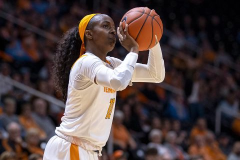 Tennessee Women's Basketball senior Meme Jackson scored 27 points in win over Auburn, Thursday. (UT Athletics)