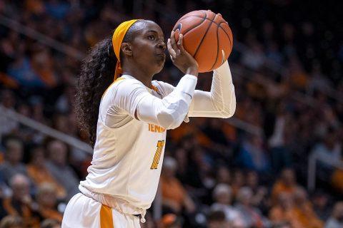 Tennessee Women's Basketball senior Meme Jackson scored 27 points in win over Auburn, Thursday. (UT Athletics)