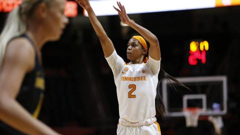 Tennessee Women's Basketball guard Evina Westbrook scored 16 points in loss to Missouri at Thompson-Boling Area, Sunday. (UT Athletics)