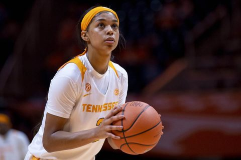 Tennessee Women's Basketball sophomore Evina Westbrook had 23 points in loss to Georgia, Sunday. (UT Athletics)