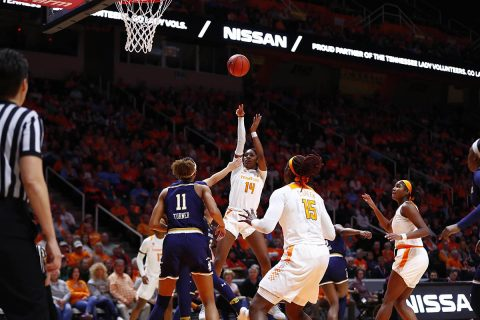 Tennessee Women's Basketball fall Thursday night to No. 1/1 Notre Dame at Thompson-Boling Arena. (UT Athletics)