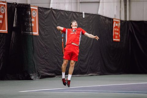 Austin Peay Men's Tennis gets 6-1 win over Cumberland at the Governors Tennis Center, Tuesday. (APSU Sports Information)