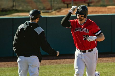 Austin Peay Baseball beats Northern Illinois 15-3 and 8-3 in a doubleheader, Sunday. (APSU Sports Information)