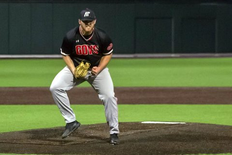 Austin Peay Baseball rallies to tie #1 Vanderbilt in the ninth then scores two in the tenth to beat the Commodores, 7-6. (APSU Sports Information)