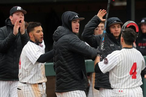 Austin Peay Baseball loses season opening at home to Kentucky Wildcats, 8-4 Friday. (Robert Smith, APSU Sports Information)