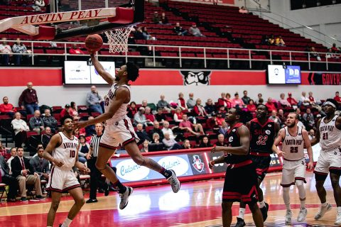 Austin Peay Men's Basketball got off to a fast start and never looked back in 80-45 win over SIU Edwardsville at the Dunn Center Thursday night. (APSU Sports Information)