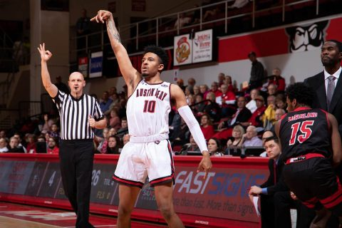 Austin Peay Men's Basketball looks to remain at the top of the OVC when it takes on Eastern Illinois at the Dunn Center, Saturday. (APSU Sports Information)