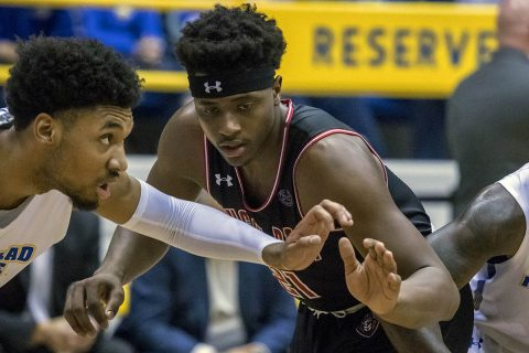 Austin Peay Basketball sophomore Terry Taylor has 42 points and 18 rebounds in win over Morehead State, Saturday. (APSU Sports Information)