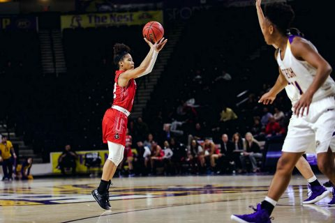 Austin Peay Women's Basketball secures 72-65 win at Tennessee Tech Thursday night for second road win in a row. (APSU Sports Information)