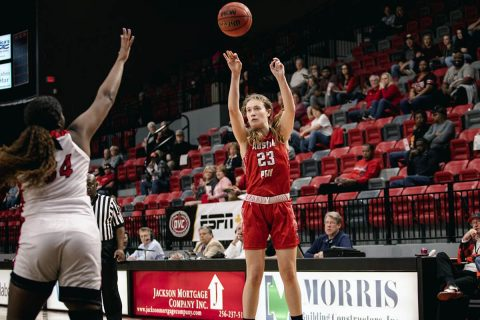 Austin Peay Women's Basketball unable to get on track in loss at Jacksonville State. (APSU Sports Information)