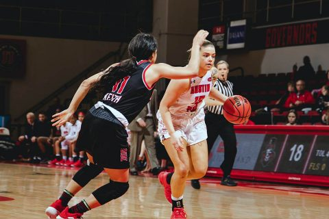 Austin Peay Women's Basketball takes care of SIU Edwardsville Thursday night at the Dunn Center, 77-65. (APSU Sports Information)