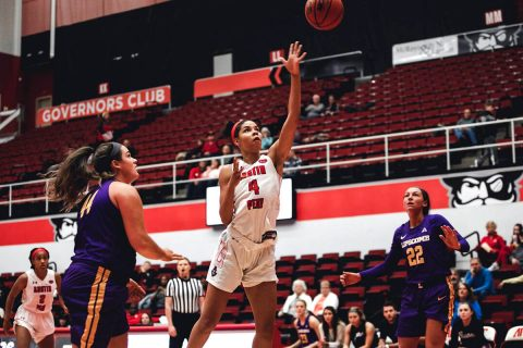 Austin Peay Women's Basketball plays Murray State for the Heritage Bank Battle of the Border at the Dunn Center, Saturday. (APSU Sports Information)