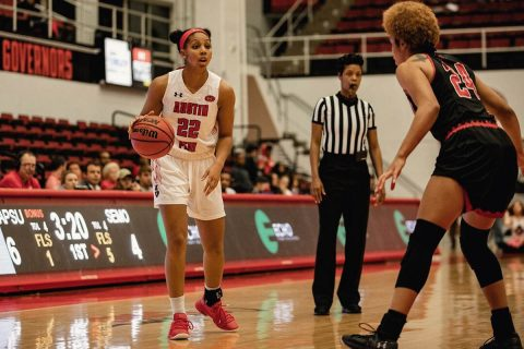Austin Peay Women's Basketball defeats Southeast Missouri at the Dunn Center 56-54 for their third win in a row. (APSU Sports Information)