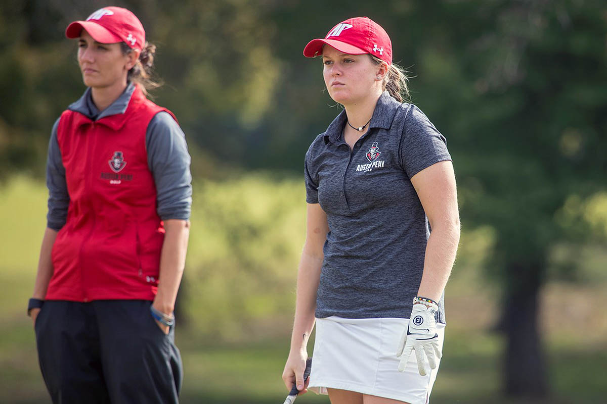 Austin Peay Women's Golf beats Lipscomb by five strokes Saturday at Temple Hills Country Club. (APSU Sports Information)