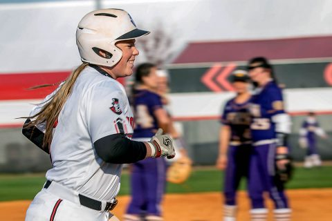 Austin Peay Softball junior Danielle Liermann had four hits and 3 RBIs for the Govs Saturday. (APSU Sports Information)