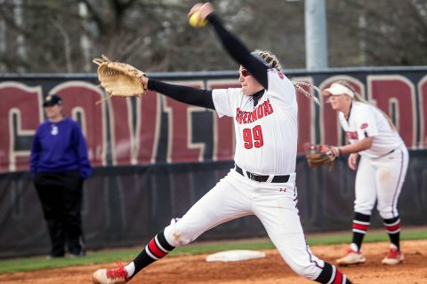 Austin Peay Softball senior Morgan Rackel throws second no hitter of her career to power Govs to 1-0 win over Jackson State. (APSU Sports Information)