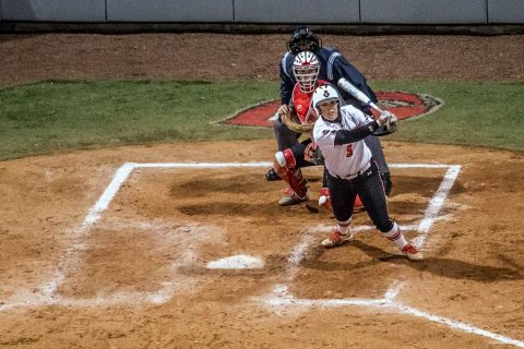 Austin Peay Softball Junior Danielle Liermann connects on two homes runs in 10-6 win over Middle Tennessee Wednesday. (APSU Sports Information)