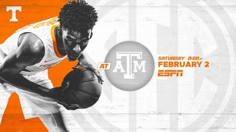 Tennessee Men's Basketball hits the road Saturday to take on Texas A&M at Reed Arena. (UT Athletics)