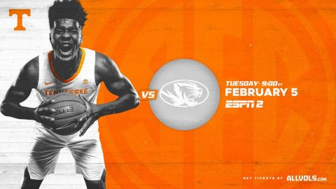 Tennessee Men's Basketball hosts Missouri Tuesday night. (UT Athletics)