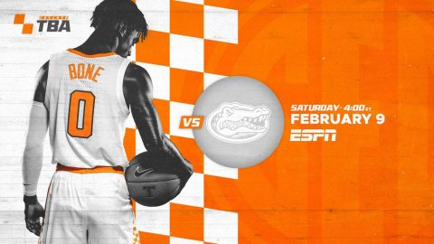 Tennessee Men's Basketball plays the Florida Gators at Thompson-Boling Arena Saturday afternoon. (UT Athletics)