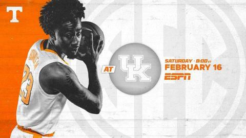 Tennessee Men's Basketball travels to Lexington to take on Kentucky Saturday night. (UT Athletics)