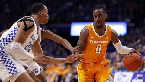 Tennessee Men's Basketball junior Jordan Bone had 19 points in loss to Kentucky at Rupp Arena Saturday night. (UT Athletics)