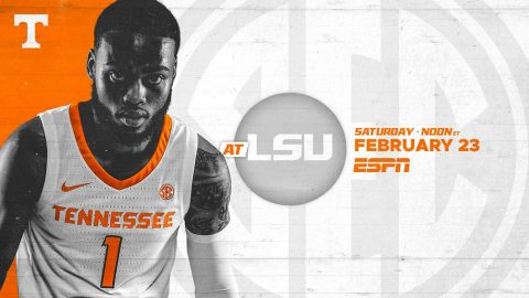 Tennessee Men's Basketball plays LSU this Saturday at the Pete Maravich Assembly Center. (UT Athletics)