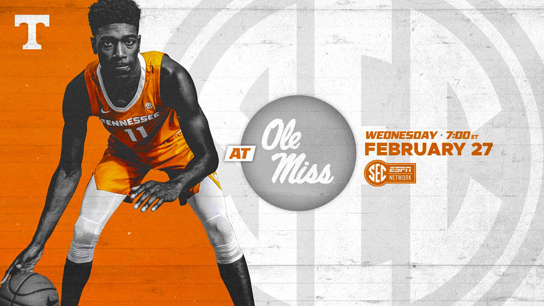 3cbbb4a9d7a Tennessee Men's Basketball face Ole Miss on the road Wednesday night at The  Pavilion at Ole