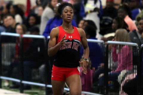 Austin Peay Women's Track and Field freshman Kyra Wilder comes up big at Purdue's Fred Wilt Open, Saturday. (APSU Sports Information)