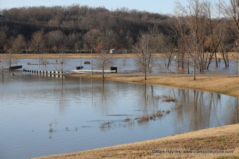 Liberty Park closed due to flooding.