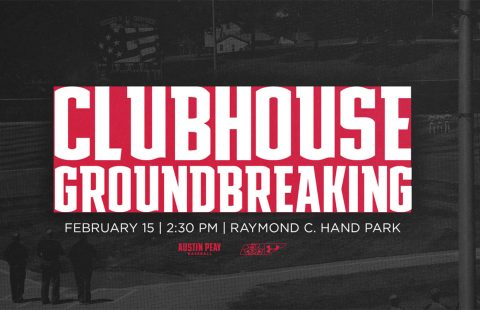 APSU to host Austin Peay Baseball Clubhouse Groundbreaking to be held Friday, February 15th. (APSU Sports Information)