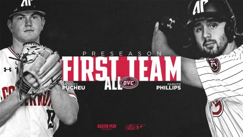 Austin Peay Baseball's Jacques Pucheu names preseason OVC Pitcher of the Year, Pucheu and Parker Phillips named to preseason All-OVC team. (APSU Sports Information)