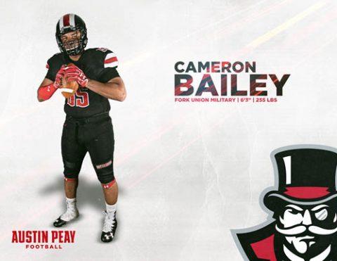 APSU Football signs Cameron Bailey