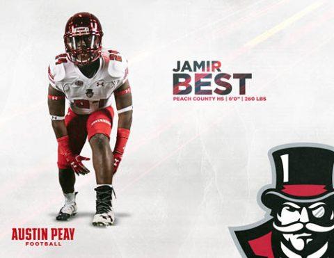 APSU Football signs Jamir Best