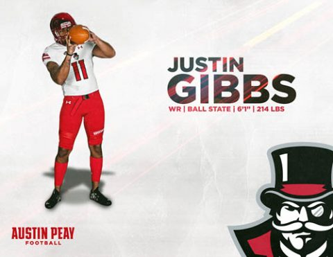 APSU Football signs Justin Gibbs