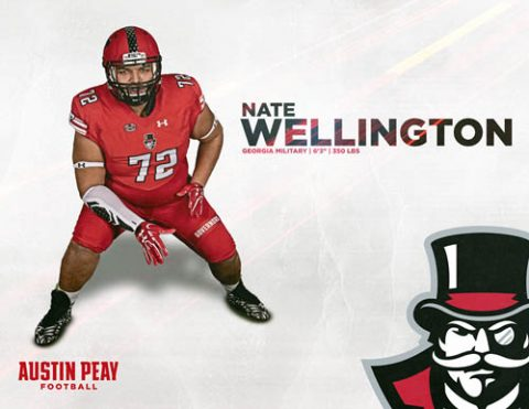 APSU Football signs Nate Wellington