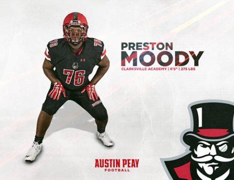 APSU Football signs Preston Moody