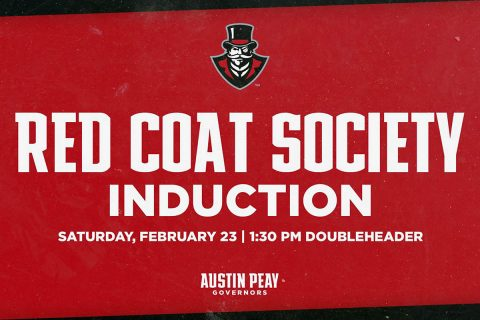 Joe Maynard, Cathi Maynard, and Ron Morton to be inducted into the Austin Peay Governors Red Coat Society Saturday afternoon at basketball double header. (APSU Sports Information)