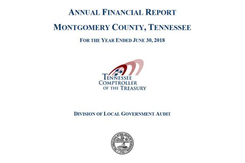 Annual Financial Report for Montgomery County Tennessee ending June 30th, 2018