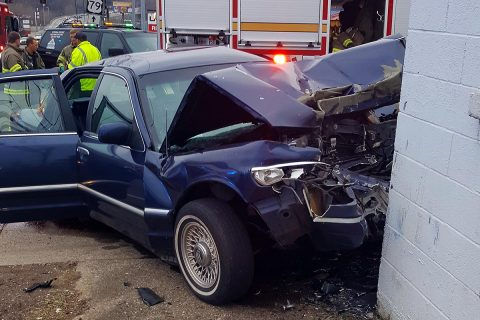Clarksville Police responded to a single vehicle accident on Collage Street Saturday afternoon. The driver passed away from their injuries. (Koski, Clarksville Police)