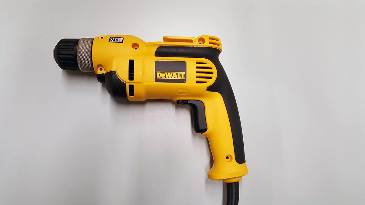 Recalled drill, the DWD110 and DWD112 drills are similar in appearance. Consumers should check the label to determine their specific drill.