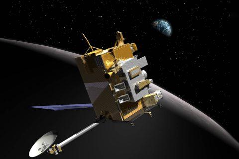 Illustration of the Lunar Reconnaissance Orbiter. (NASA Goddard Space Flight Center)